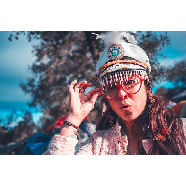 And another awesome lady over here @sydjbird at @lucidityfestival .... Been going a little crazy with the red/blue edits lately...oops. #fujixe3