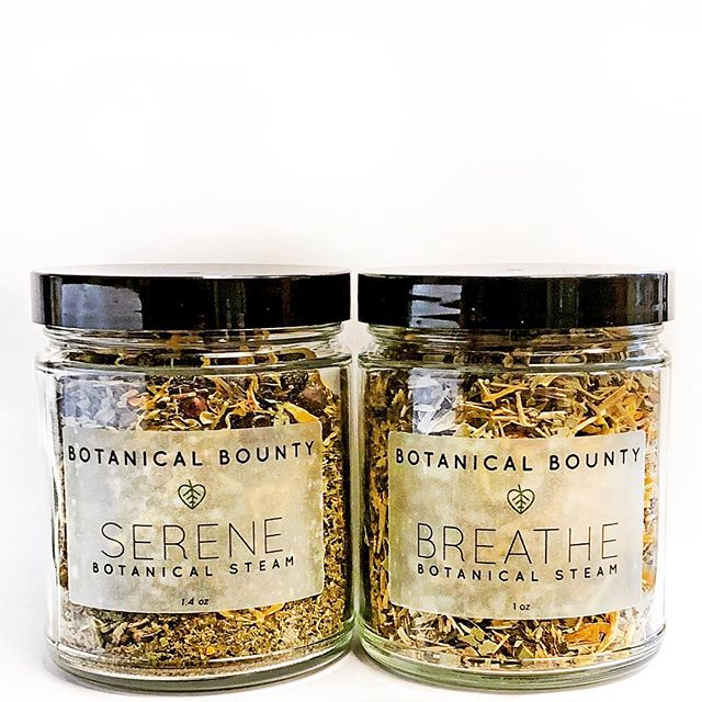 Our new botanical steams are now available on our website. Breathe is great for winter congestion and spring allergies 🤧 while Serene will help you unwind after a long day 🧖♂️🧖♀️. Both will leave your skin glowing. Link in the bio!