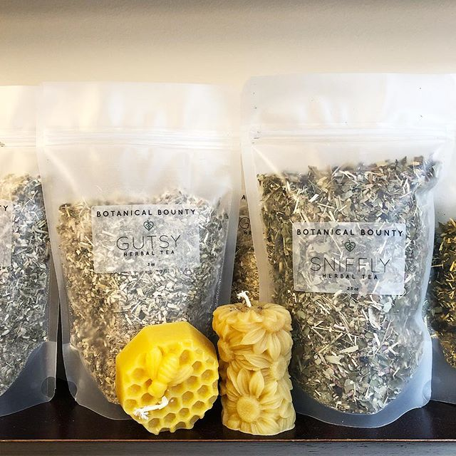 Herbal tea blends and homemade pure beeswax candles available in the online shop! 🌿🐝 Link in the bio. 🌱 Need it today? Come visit us at our 57th Street location.