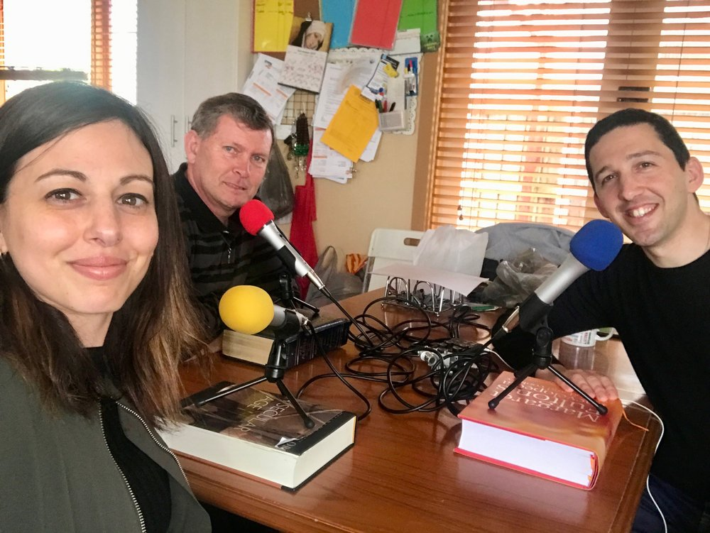 Recording the podcast in Melbourne, Australia with Lindsay my nephew and Caroline my niece. ENJOY!