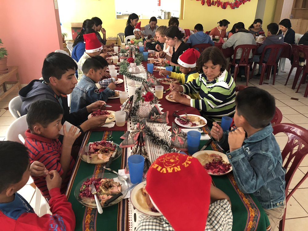 Activity and lunch at the Family Center and the Children's Home