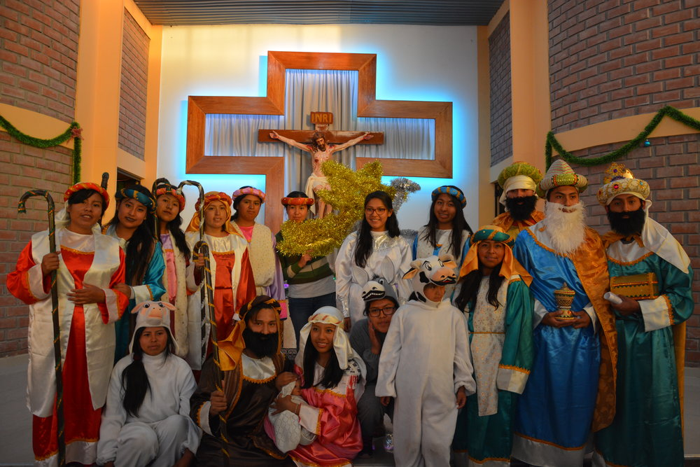 Group photo of the youths participating in the Eucharist