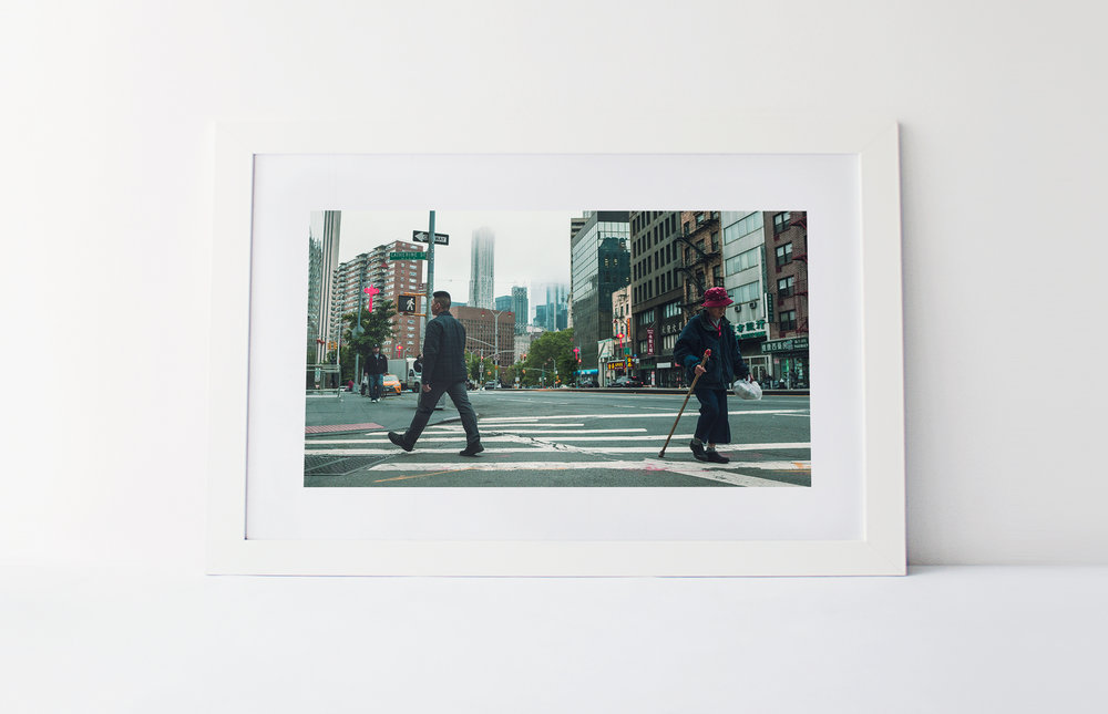 China town crossing   40cm x 60cm print Frame included