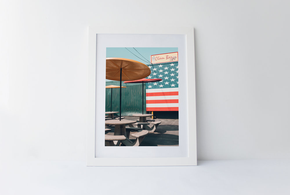 Clam bar   40cm x 60cm print Frame included