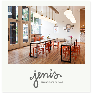 Jeni Bauer opened the first Jeni's Splendid in 2002 in Columbus, Ohio. Her team makes every ice cream, sorbet, and frozen yogurt from the ground up with grass- grazed Ohio cream, local produce, and carefully sourced ingredients.