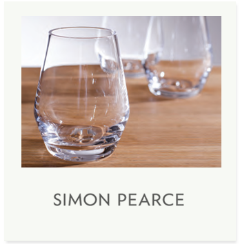 Simon Pearce designs and manufactures original products in hand blown glass. Simon Pearce, from inception, has maintained a dedication to creating products that are beautifully designed, produced with premium quality materials and time-honored techniques and intended for a lifetime of everyday use. The glass embodies traditional and contemporary styles—all with classic simplicity, elegance and everyday functionality.