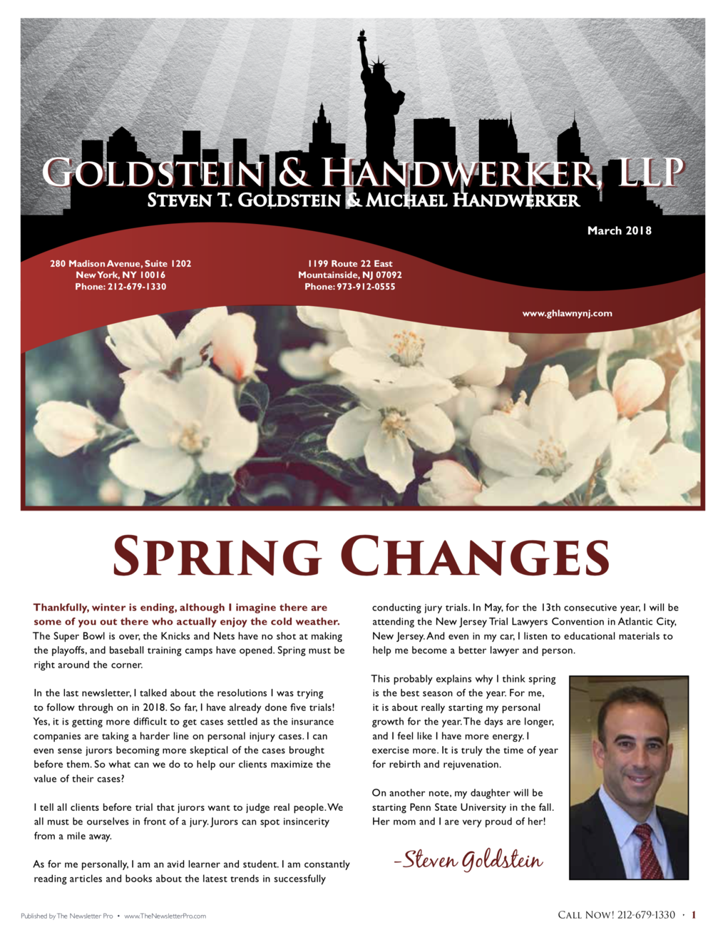 Newsletter • March 2018