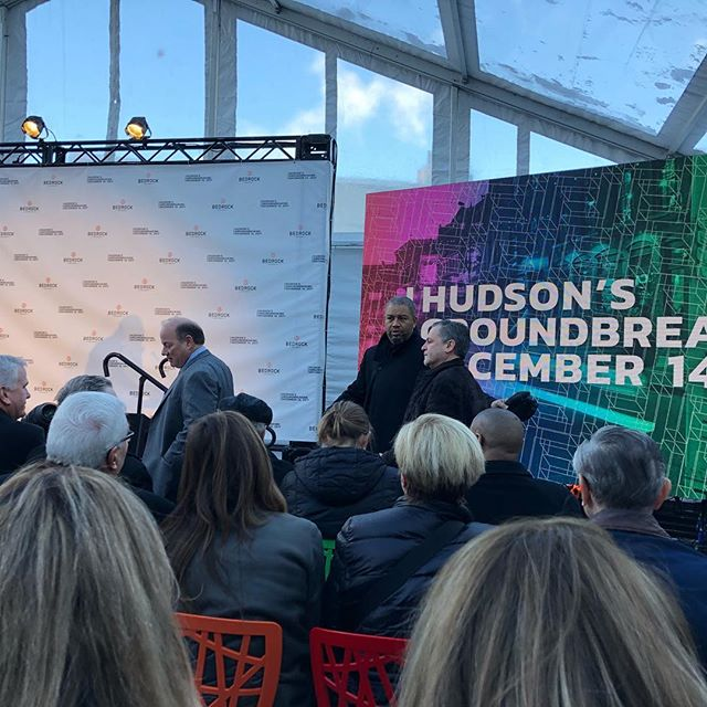 Hudson's site groundbreaking.