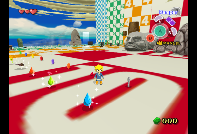 A secret debug level full of different objects in The Legend of Zelda: The Wind Waker.    Image Source