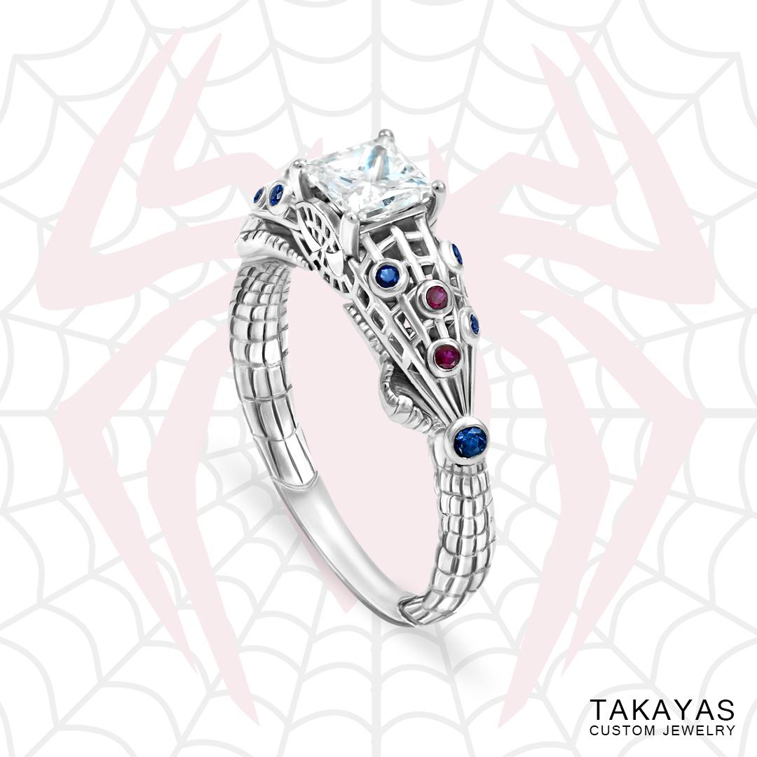 Marvel Wedding Rings | The Amazing Spider Man Inspired Engagement Ring Takayas Custom Jewelry