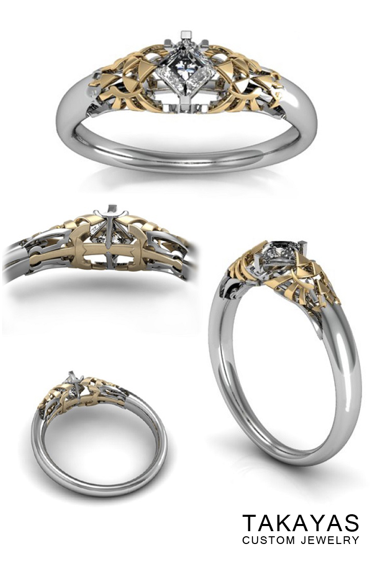 Princess Zelda Engagement Ring Takayas Custom Jewelry