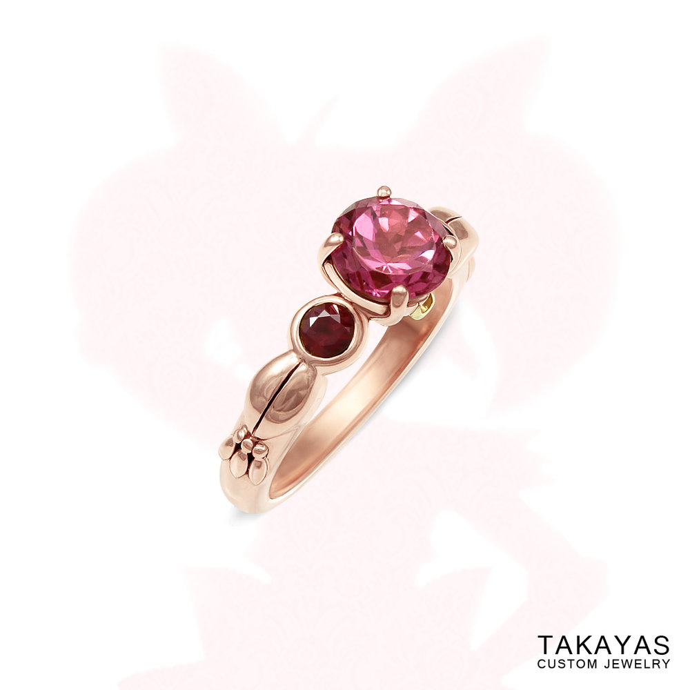 Chibi Moon engagement ring by Takayas Custom Jewelry