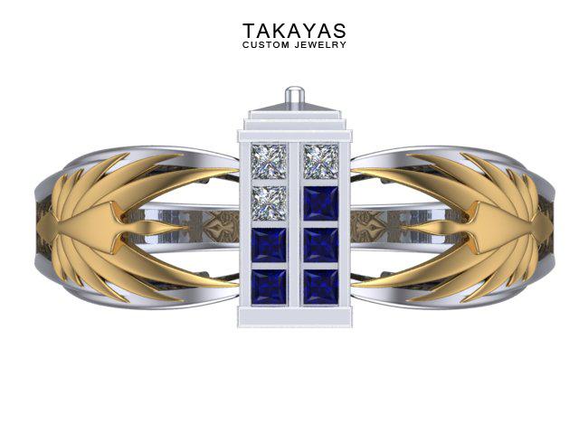 Tardis Engagement Ring Front copy