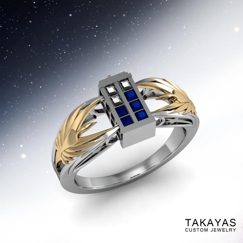 Tardis Engagement Ring Main1