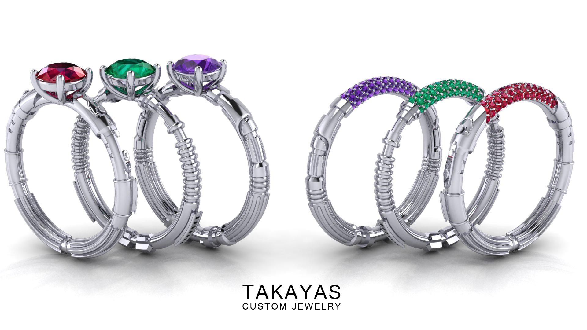Star Wars Inspired Lightsaber Rings Takayas