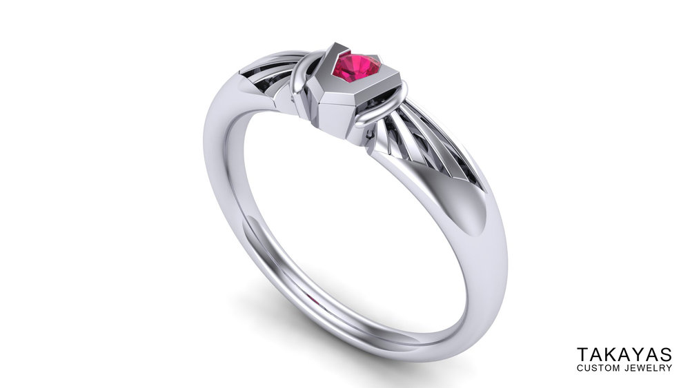 Goron Ruby Takayas Custom Jewelry Zelda Ring 2