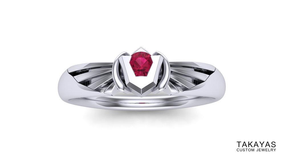 Goron Ruby Takayas Custom Jewelry Zelda Ring