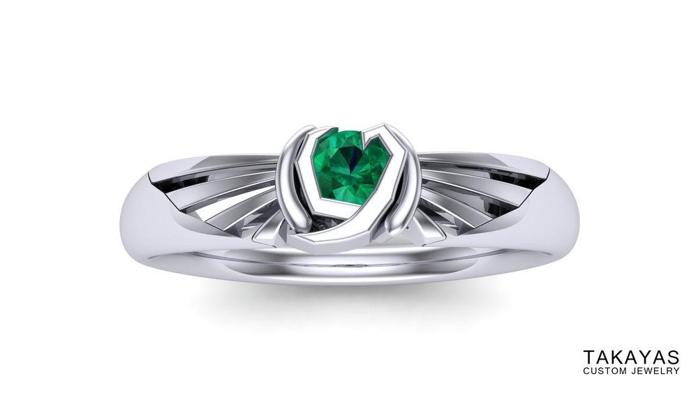 Kokiri Emerald Takayas Custom Jewelry Zelda Ring