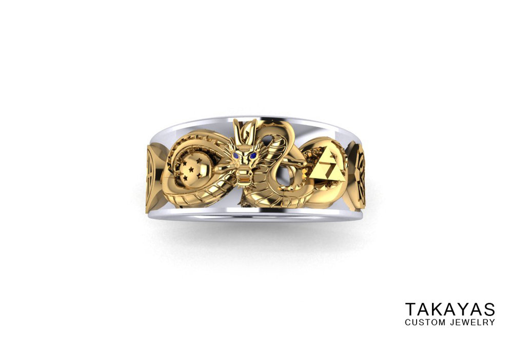 Takayas Custom Jewelry Dragon Ball Ring Render Front