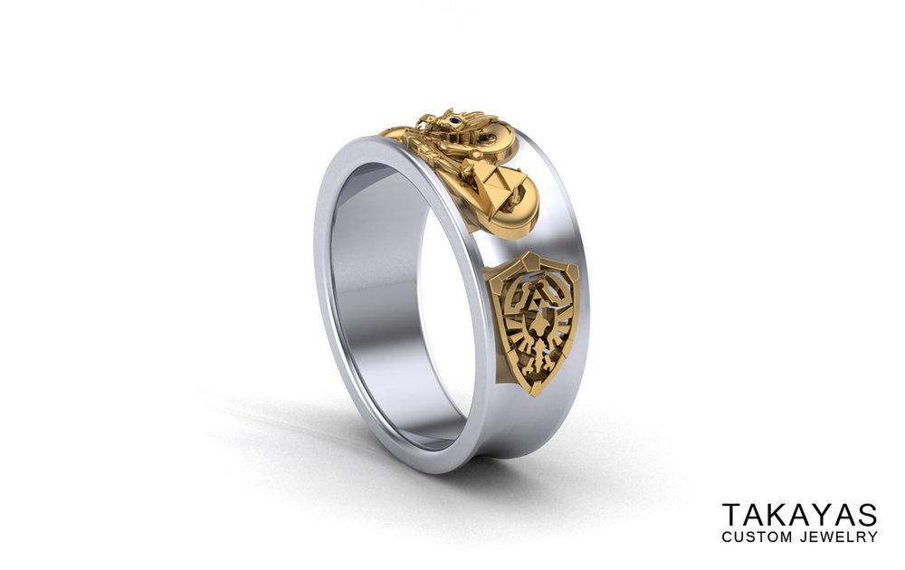 Takayas Custom Jewelry Dragon Ball Ring Render Side