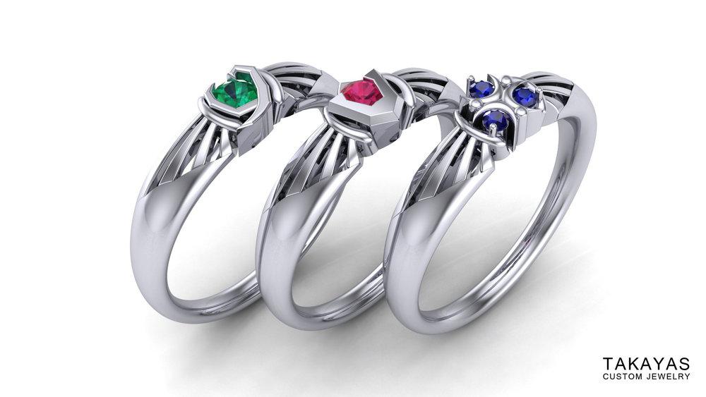 Kokirigoronzorazeldaringstakayas: Spiritual Stones Zelda Wedding Rings At Websimilar.org