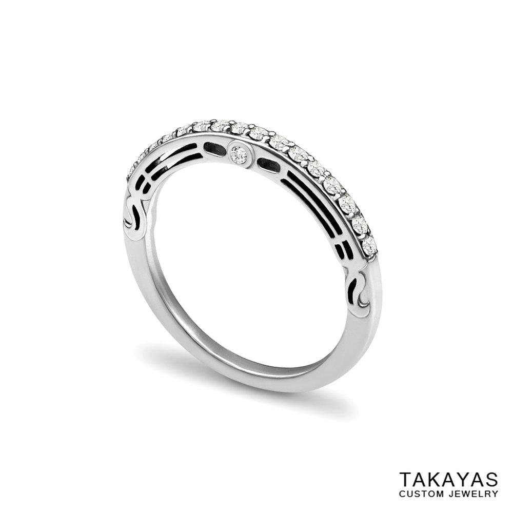 Butterfly_Superman_Wedding_Band_2 Takayas Custom Jewelry