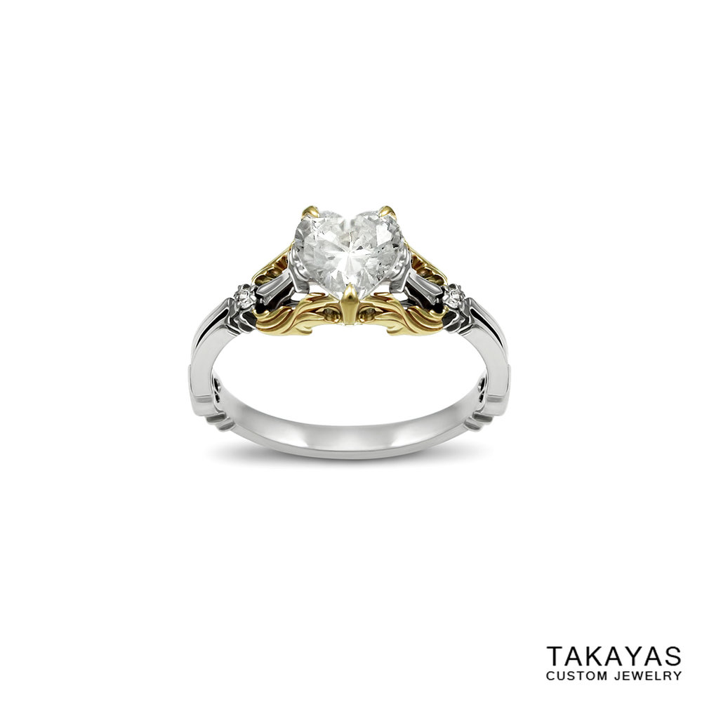 Kingdom Hearts Engagement Ring Takayas Custom Jewelry 1