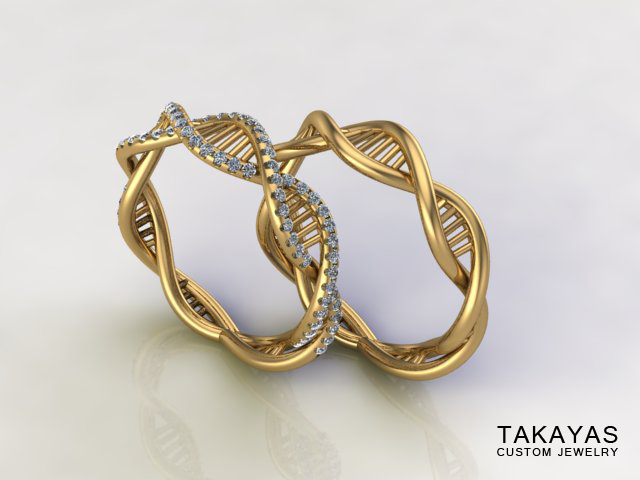 DNA Ring Collection Takayas Custom Jewelry 4