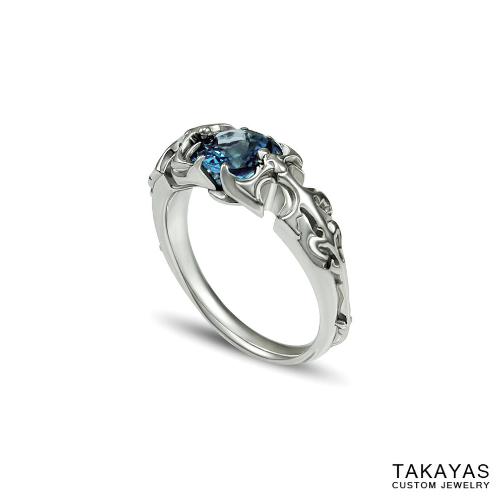 paladin final fantasy mens ring takayas custom jewelry 1