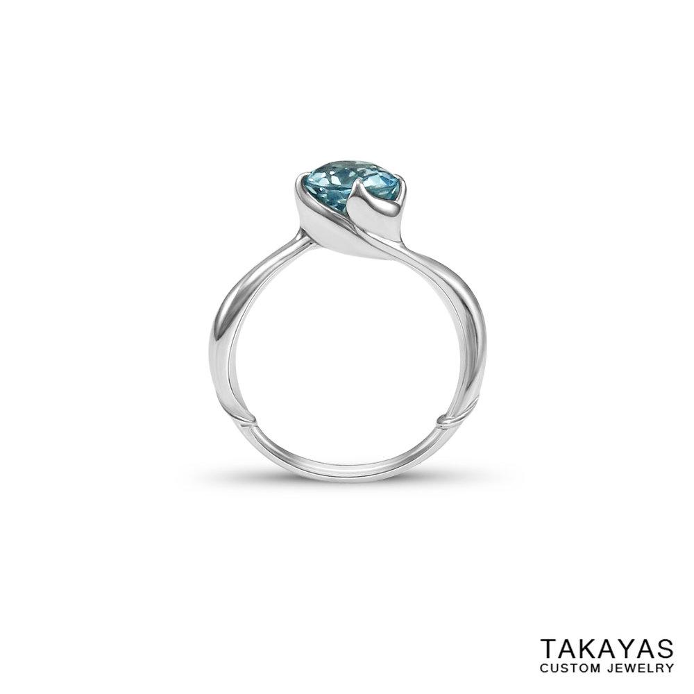 mermaid-aquamarine-ring-front-takayas-custom-jewelry