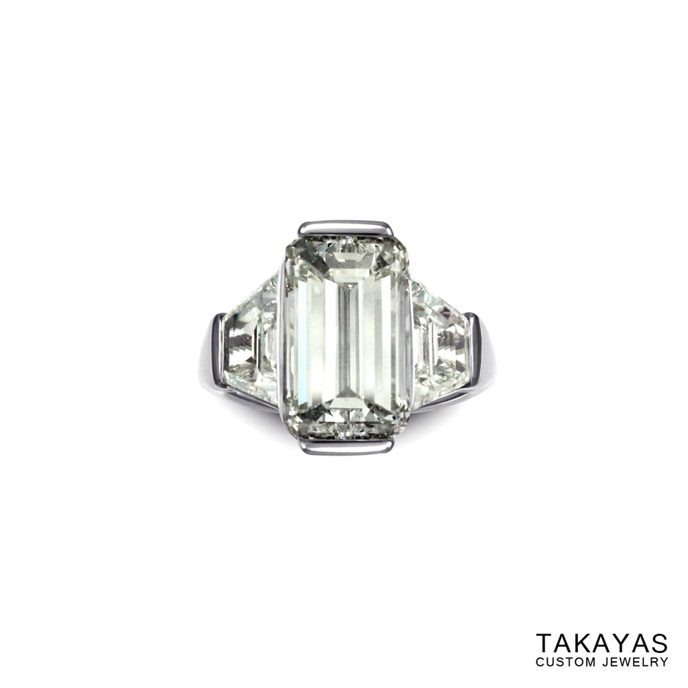 emerald-cut-diamond-butterfly-ring-takayas-custom-jewelry-front