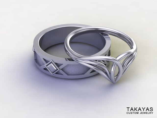 lord-of-the-rings-elf-dwarf-wedding-rings-takayas-custom-jewelry