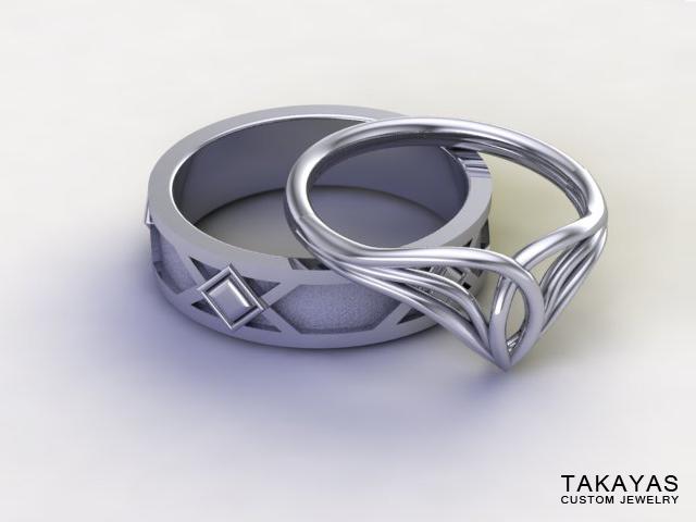 lord-of-the-rings-elf-dwarf-wedding-rings-takayas-custom-jewelry