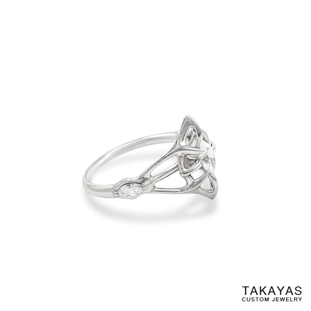 lord-of-the-rings-marquise-diamond-engagement-ring-side-takayas-custom-jewelry