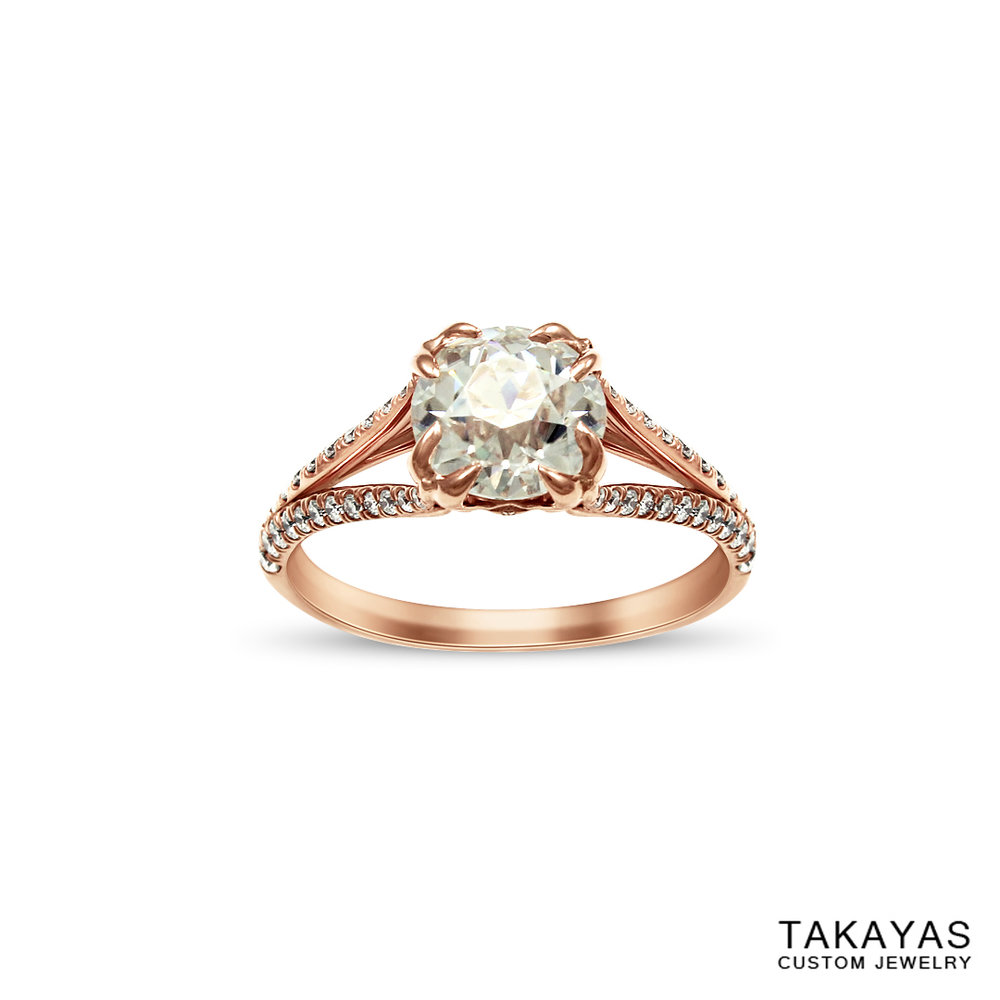 sailor-moon-rose-gold-engagement-ring-takayas-custom-jewelry-front-view