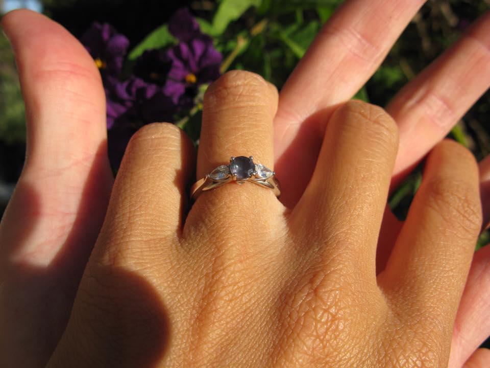 sean-gabi-wearing-alexandrite-ring