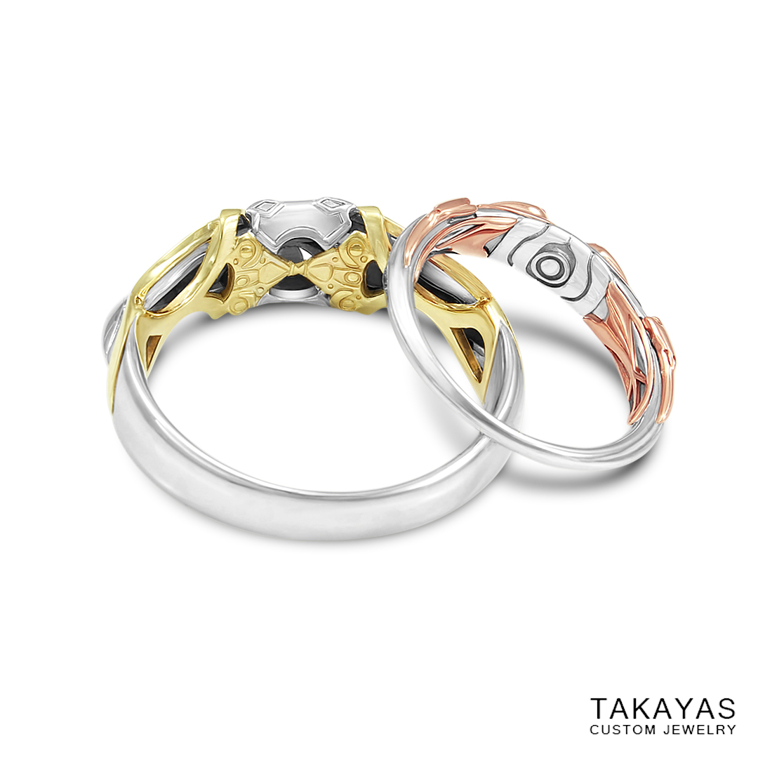 Xenogears Fei And Elly Inspired Mech Wedding Rings Takayas
