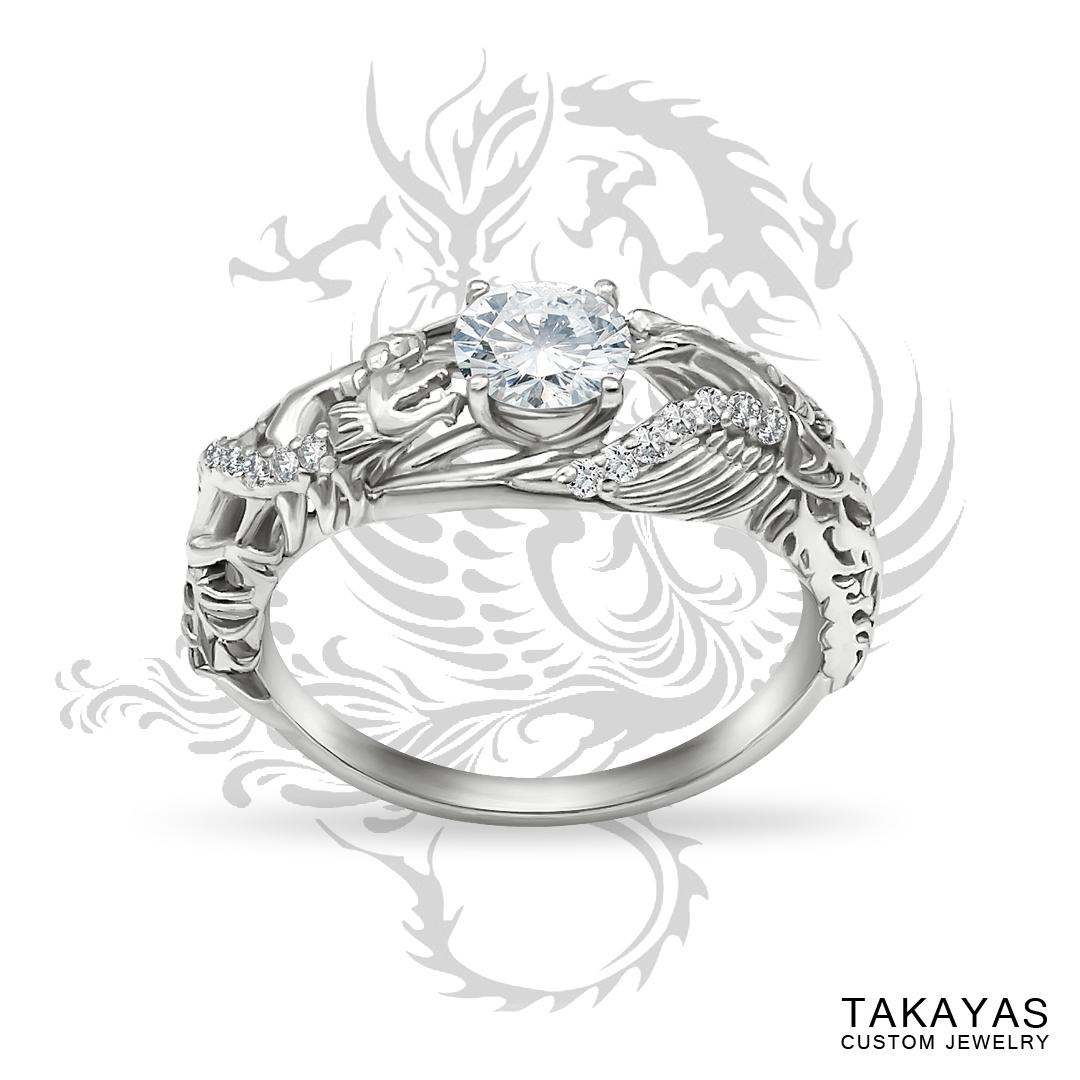 Japanese Love Story Wedding Set Takayas Custom Jewelry