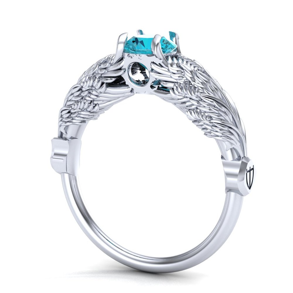 CAD rendering of Hraesvelgr inspired ring by Takayas Custom Jewelry