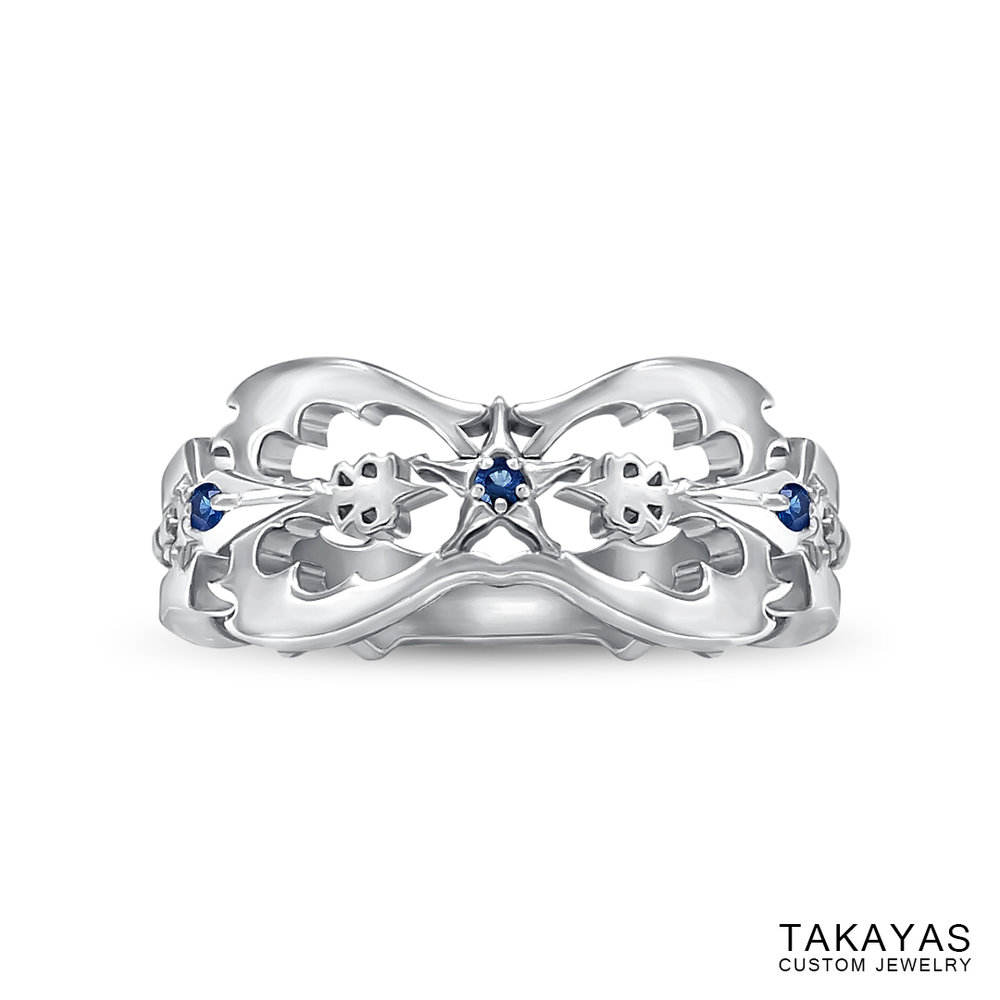 Kingdom Hearts Oblivion Wedding Ring by Takayas top down view