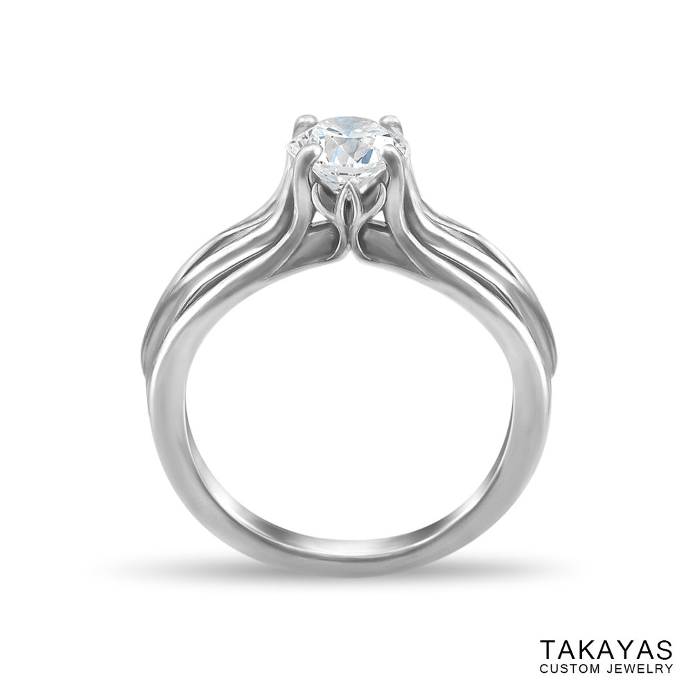 photograph of Joy's Ring solitaire engagement ring by Takayas - front view