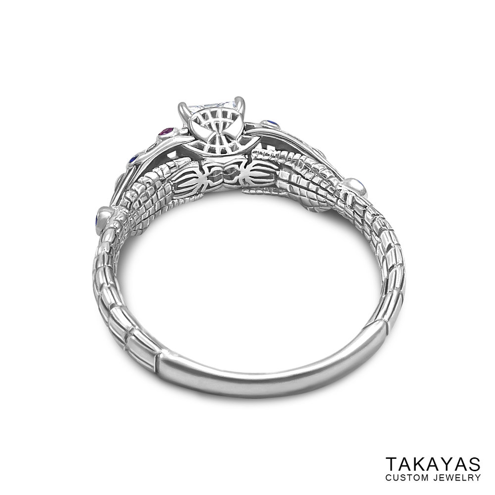 photograph of Spider-Man (Spiderman) engagement ring by Takayas - under-gallery view
