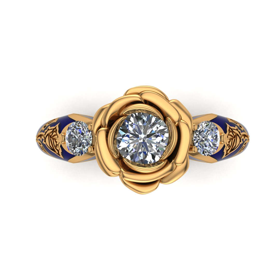 Beauty And The Beast Inspired Bridal Set Takayas Custom Jewelry