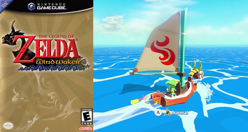 Zelda Wind Waker video game cover and screen shot - used for inspiration