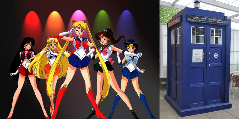 Sailor Scouts and Doctor Who inspiration images
