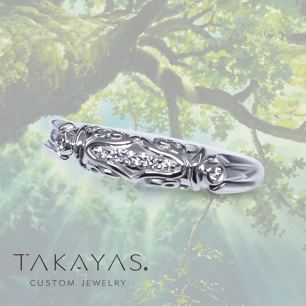 Princess Mononoke Inspired Wedding Ring by Takayas Custom Jewelry