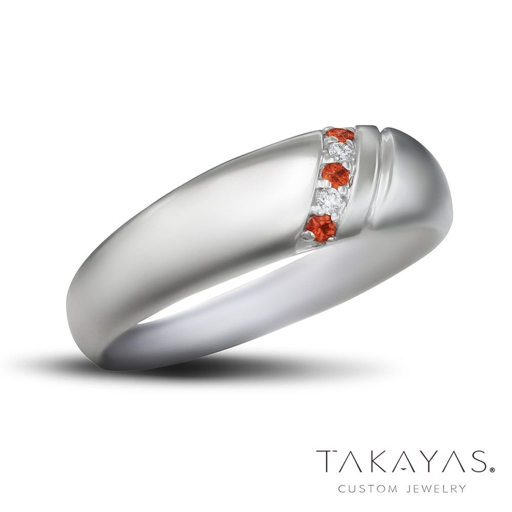 Diamond-Orange-Sapphire-Mens-Style-Ring