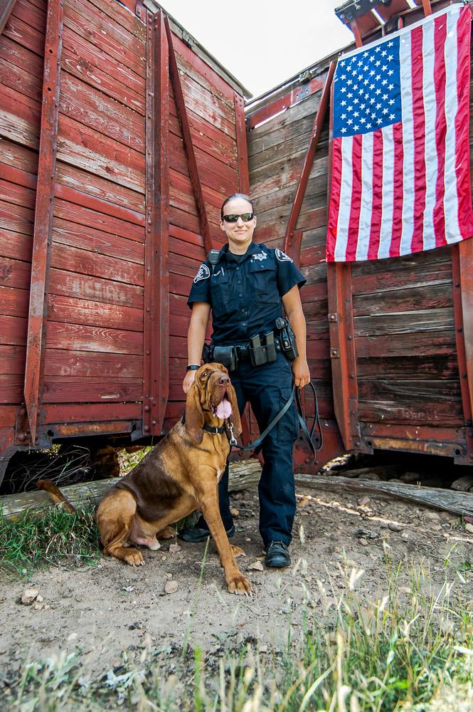 Deputy Tkach and K9 Scout