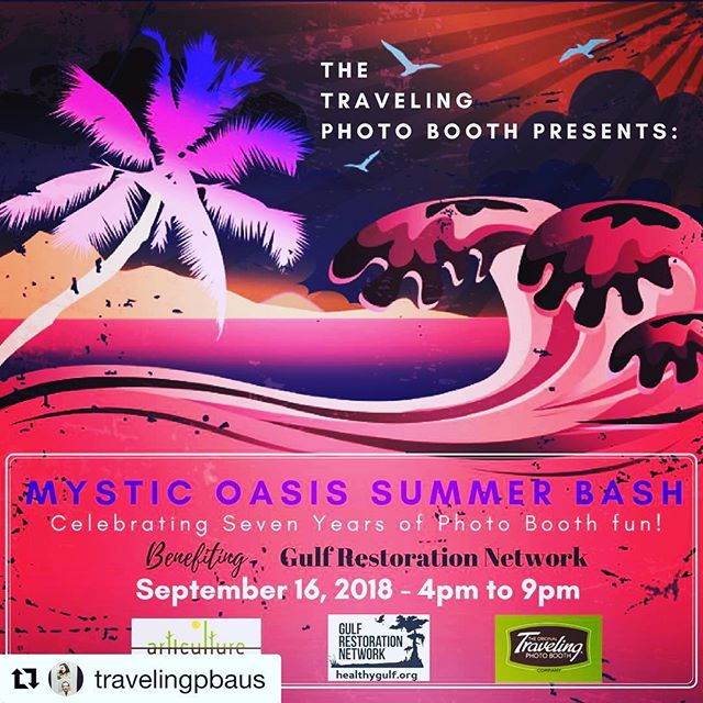 💜🎶✨Get your plans ready for September 9th and join us for Sunday Funday evening benefitting @healthygulf ✨ . . .  #Repost @travelingpbaus ・・・ Join us in celebrating a successful seven years of photo booth fun, Austin style! While raising funds for the @healthygulf.  We present to you: Mystic Oasis Summer Bash.  Celebrating at the mist unique venue in South Austin, (Articulture Designs), a beautiful eco-friendly venue. Enjoy live music by @lionheights, catered by @tacosandtequilatnt, all while sipping on local beverages.  Be sure to capture your fun in one-of-kind, retrolicious photo booths & share to the world!  The Gulf Restoration Network is committed to uniting and empowering people to protect and restore the natural resources of the Gulf of Mexico region for future generations. Minimum donation $10 (via event link or at the door). We are excited to raise funds along side of our favorite vendors, including: Articulture Designs, @tacosandtequilatnt , @shadybrewco, @waterloosparkling, @rachael_l_hall, @kingdomsoundatx, @lionheights, @rentthebar @altared_weddings , @elevatebartending , @partypottytrailers , @ToGoCo-Compostable Products.  Cheers to another successful year friends! #southaustin #articulture #austin #texas #soco #texas #oceans #benefitevent #livemusic #cocktails #life #eventindustry #mysticoasis