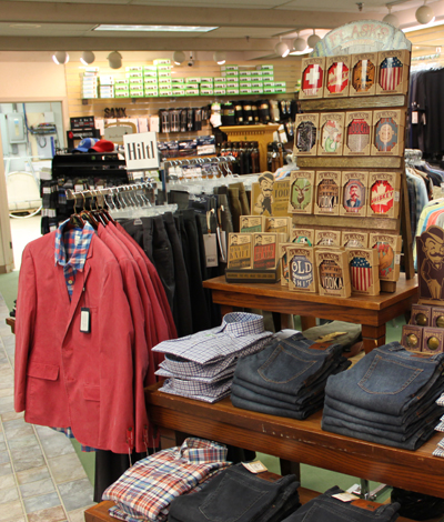 Hanny's Men's Wear - Hanny's Men's has been Rochester's premier clothing store since 1939.  Our men's store carries all those brands you know and love coupled with exceptional customer service.  Our professional sales staff will work with you to find the perfect weekend wear with collections from Tommy Bahama, Kuhl, Smartwool, Hiltl, Barbour, and Filson. We also offer instock suiting from various companies such as Hart Schaffner & Marx, S.Cohen, and Coppley. Another option would be a custom suit from Hart Schaffner & Marx.  Everyday customer service standards at all Hanny's locations include experienced professional sales staff, on-­site alterations, manufacturer direct special orders, free gift wrap, and shipping across the United States.